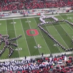 Ohio State Marching band halftime show
